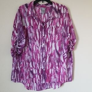 Catherines Multicolored Blouse Sz. 1X